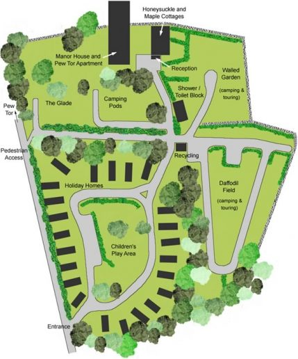 Langstone Park Site Map