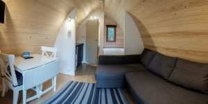 Inside the Glamping Mega Pod
