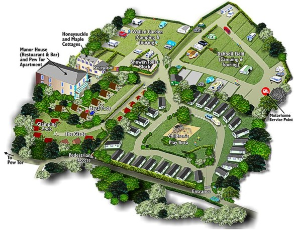 Glamping Pods location