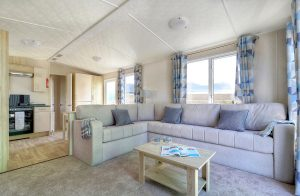 Devon holiday caravan lounge